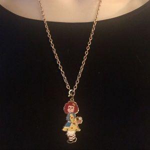Vintage Raggedy Ann necklace
